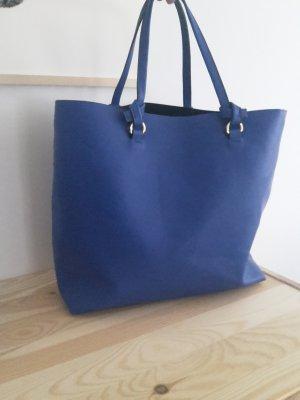MANGO Shopper Tasche Umhängetasche blau zara &other stories