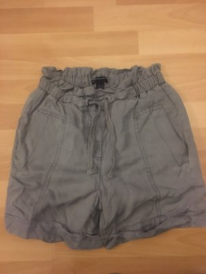 Mango Casual Sportswear Shorts gris-color plata lyocell