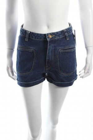 Mango Shorts dunkelblau-blau 70ies-Stil