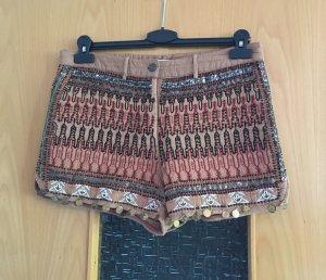 Mango Shorts nude bunt gr. M Blogger neu mit Etikett