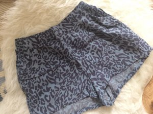 Mango Shorts S 36 neu blau Leo Leopard Muster Sommer