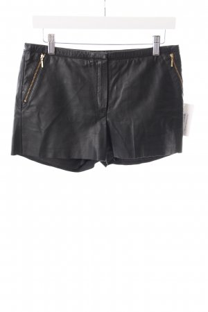 Mango Shorts schwarz Leder-Optik