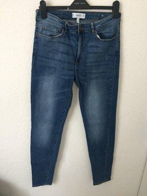 Mango Skinny High Waisted Jeans Blau