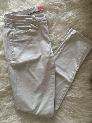 Mango Skinny Hose Jeans Leggings Röhrenhose 36 S weiß offwhite neu