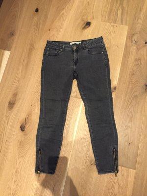 Mango 7/8-jeans antraciet