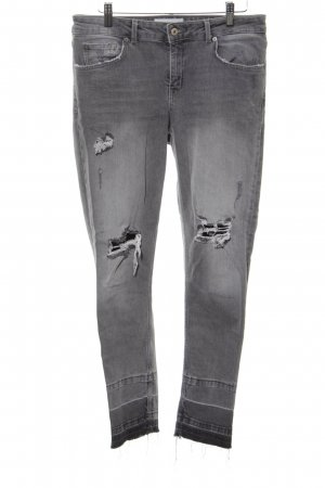 Mango Skinny Jeans hellgrau Street-Fashion-Look