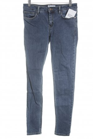 Mango Skinny Jeans blau-wollweiß Washed-Optik