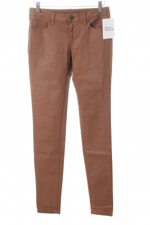 Mango Skinny Jeans cognac Glanz-Optik