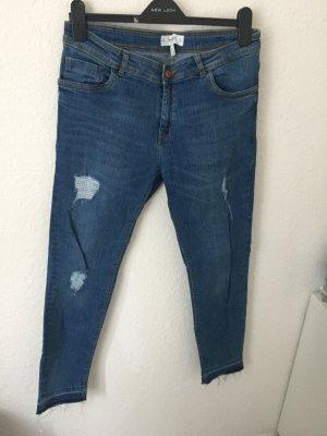 Mango Skinny Jeans Destroyed Blau