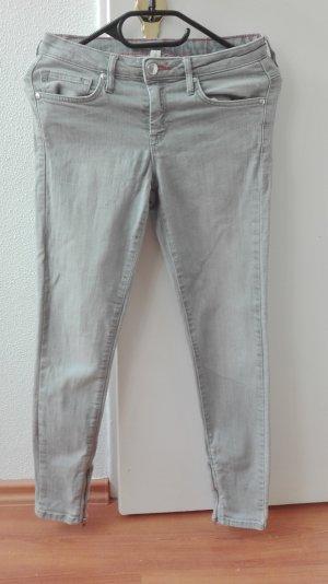 Mango Skinny Jeans grau XS 34 7/8 ankle