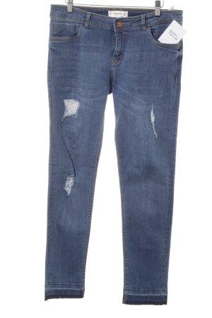 Mango Skinny Jeans kornblumenblau Casual-Look