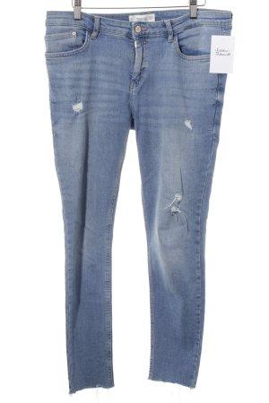 Mango Skinny Jeans kornblumenblau-himmelblau Casual-Look