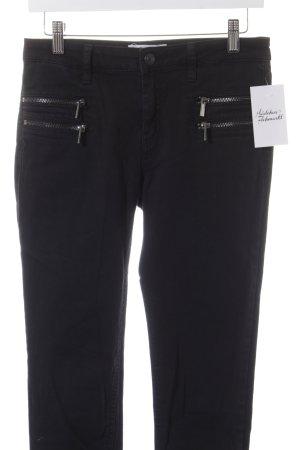 Mango Skinny Jeans schwarz-silberfarben Street-Fashion-Look