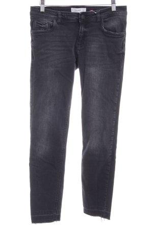 Mango Skinny Jeans schwarz Used-Optik