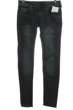 Mango Skinny Jeans waldgrün-schwarz Farbverlauf Casual-Look