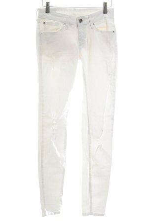 Mango Skinny Jeans wollweiß-weiß Casual-Look