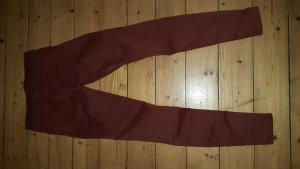 Mango slim Hose Jeans dunkelrot bordeaux Gr. 36