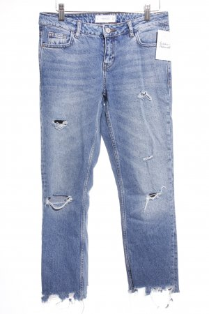 Mango Slim Jeans dunkelblau Destroy-Optik