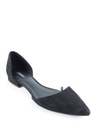 Mango Slingback Ballerinas schwarz Elegant