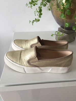 Mango Slipper Slip-on Gold Gr 39 metallic