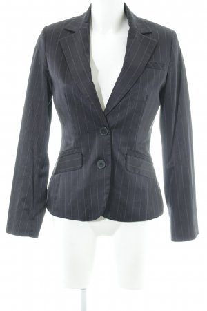 Mango Smoking-Blazer dunkelblau-weiß Nadelstreifen Business-Look