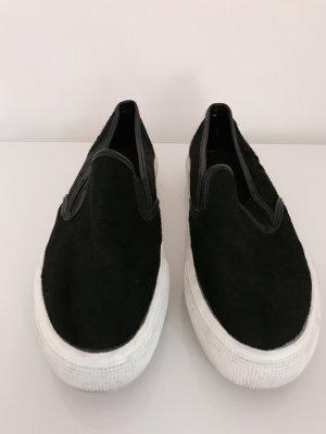 Mango Sneaker Slipper Plateau Turnschuhe Sportschuhe Schuhe Schwarz Weiß Creeper