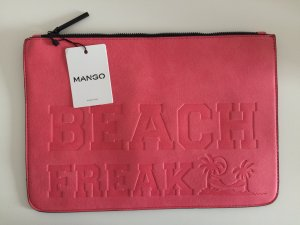 Mango Clutch bright red-neon red