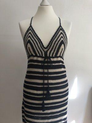 Mango Sommer Kleid Streifen gehäkelt  Große S