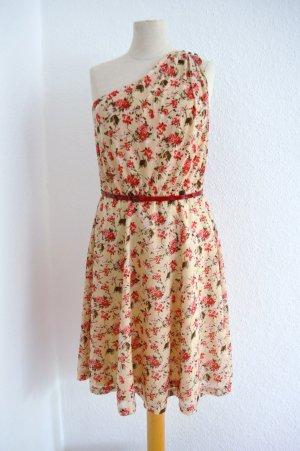 Mango Sommer Suit Kleid Gr. XS Blumen Cotton