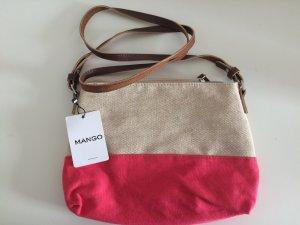 Mango Sommer Tasche pink beige neu mit Etikett