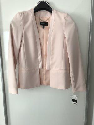 Mango Blazer de esmoquin rosa Poliéster