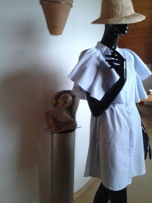 Mango, Sommerkleid hellblau-weiß gestreift Gr. S