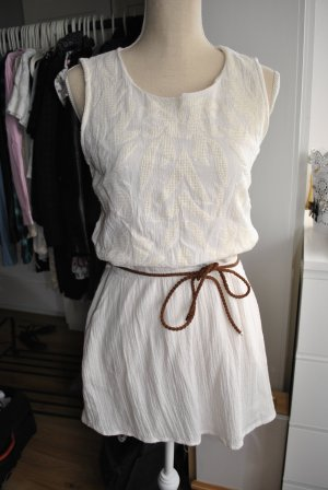 MANGO Sommerkleid mit Gürtel - Größe XS