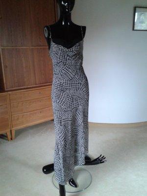 Mango Sommerkleid schwarz-weiß gemustert
