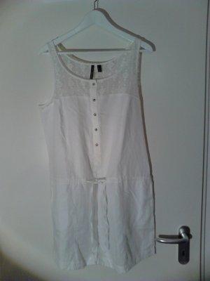 Mango Sommerkleid weißes Leinen