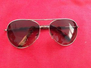 Mango Sonnenbrille/Fliegerbrille Goldrahmen und braune Gläser