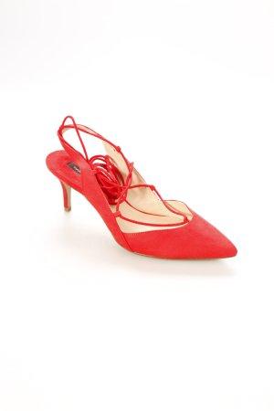 Mango Spitz-Pumps rot klassischer Stil