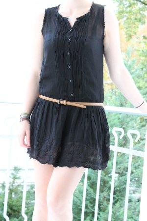 Mango spitzen Kleid Tunika vintage boho hippie blusenkleid