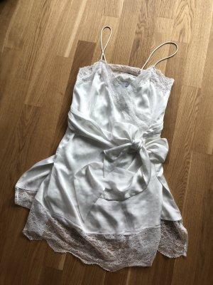Mango Vestido de encaje blanco
