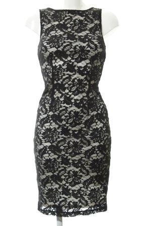 Mango Lace Dress black floral pattern romantic style