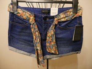 Mango Pantaloncino di jeans multicolore Cotone