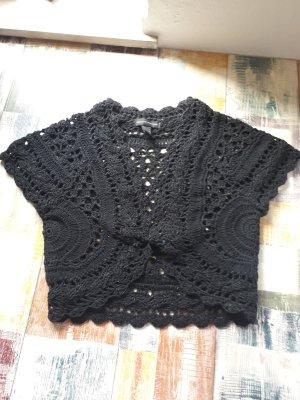 Mango Casual Sportswear Bolero lavorato a maglia nero
