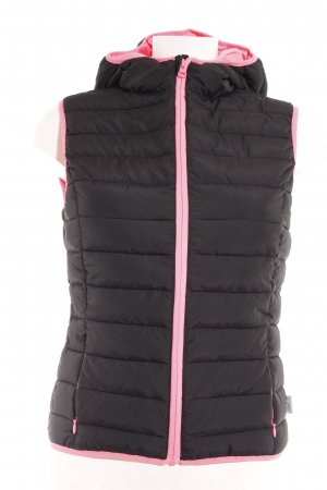 Mango Chaleco acolchado negro-rosa neón estampado acolchado estilo deportivo