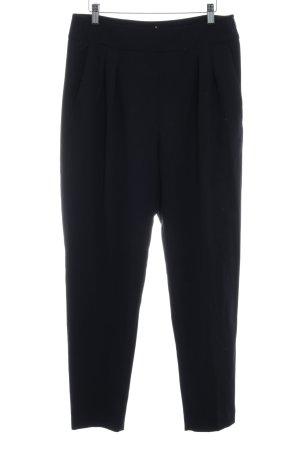 Mango Stoffen broek donkerblauw elegant