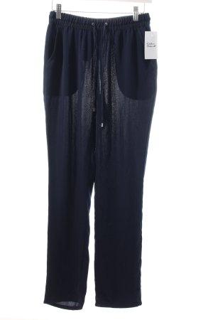 Mango Stoffhose dunkelblau Street-Fashion-Look