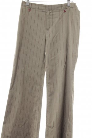 Mango Stoffhose graubraun-bordeauxrot Nadelstreifen Business-Look