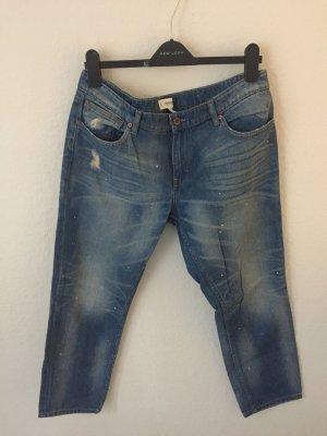 Mango Straight Jeans Blau