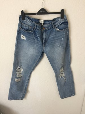 Mango Straight Jeans Destroyed