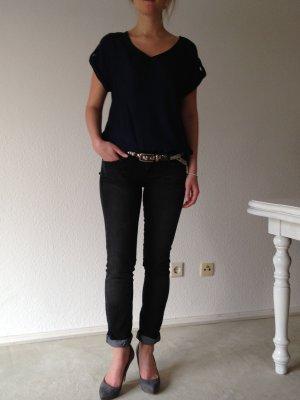 Mango Straight Jeans Dunkelgrau Eur 36 / D 34