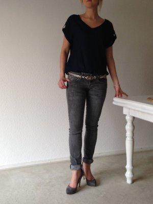 Mango Straight Jeans Grau Eur 34 / D 32